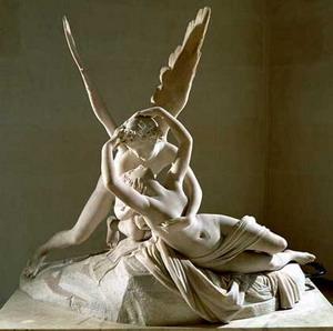 Амур и Психея, 1787-1793 гг., 1800-1803., Лувр, Эрмитаж, Париж, Санкт-Петербург.