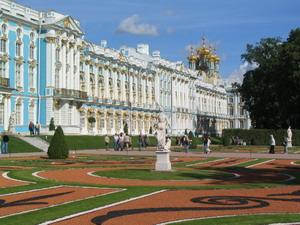 Перестройка Екатерининского дворца в Царском Селе.