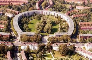 Посёлок Хуфайзен в берлинском районе Бриц. 1925 г., Германия.