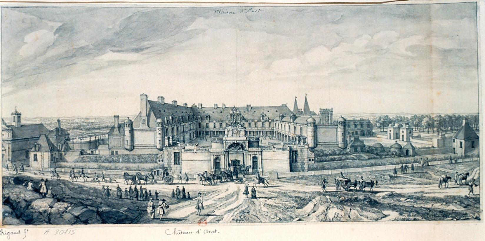 замок в Ане 1547–1556 гг., Франция.
