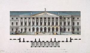 Смольный институт 1806-1808 гг., Санкт-Петербург, Россия.