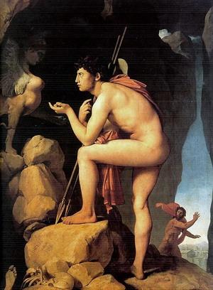 Эдип и Сфинкс, 1808 г., Лувр, Париж.