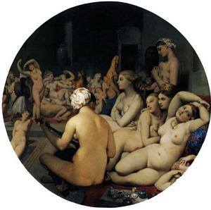 Турецские бани, 1862 г., Лувр, Париж.