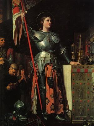 Жанна д'Арк на коронации Карла VII», 1854 г.