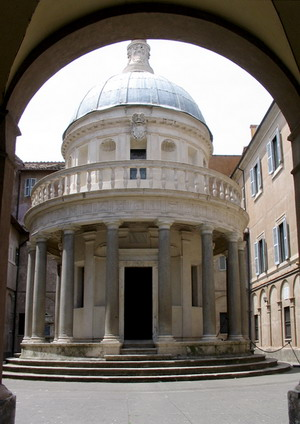 ротонда Темпьетто (во дворе монастыря Сан-Пьетро ин Монторио г.)