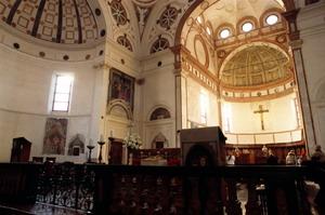 Санта-Мария делле Грацие в Милане, интерьер.