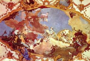 Аллегорическая роспись плафона Вюрцбургской резиденции 1750-53 гг.
