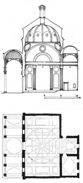 Капелла Пацци, проект (1429-1443)