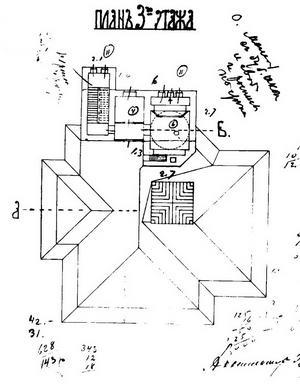 Особняк Рябушинского, План третьего этажа, 1900-1903 гг.
