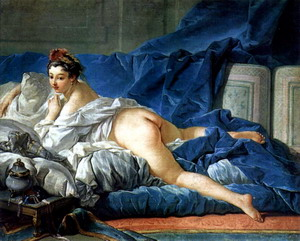 Темноволосая одалиска, 1745 г., Париж, Лувр.