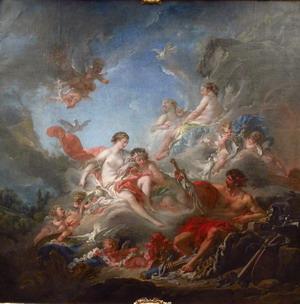 Вулкан вручает Венере доспехи Энея, 1757 г.