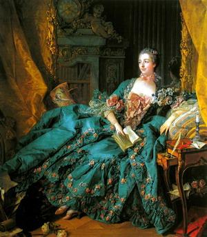 Портрет мадам де Помпадур 1756 г.