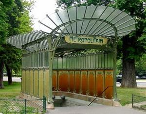 Входные павильоны метро 1900 г., Париж, Франция.