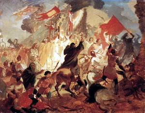 Осада Пскова, 1839-43 гг., Третьяковская галерея, Москва.