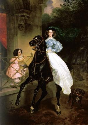 Всадница - портрет Джованнины Пачини, 1832 г., Третьяковская галерея, Москва.
