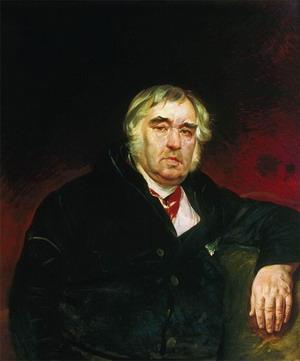 И. А. Крылова, 1839 г., Третьяковская галерея, Москва.