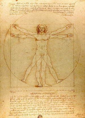 Пропорции человеческой фигуры по Витрувию.