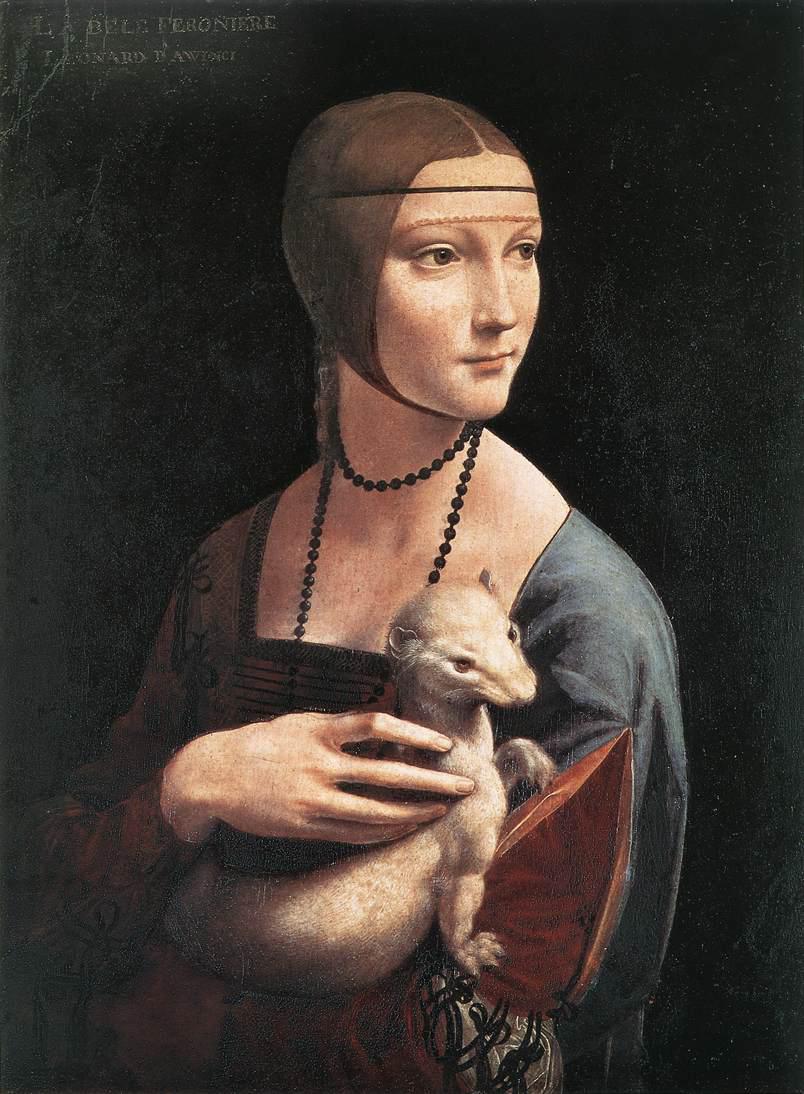 Леонардо да Винчи - Дама с горностаем.
