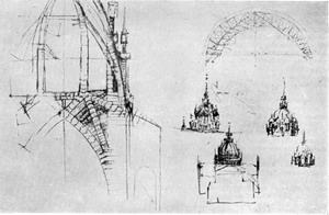 Проект купола Миланского собора.