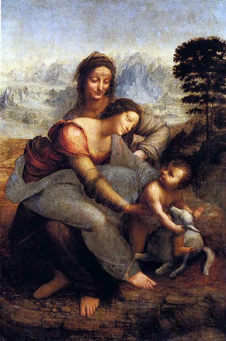 Мадонна и младенец со святой Анной - Леонардо да Винчи