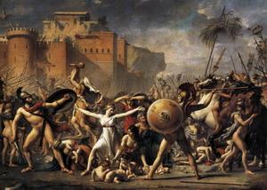 Сабинянки, останавливающие битву между римлянами и сабинянами, 1799 г.