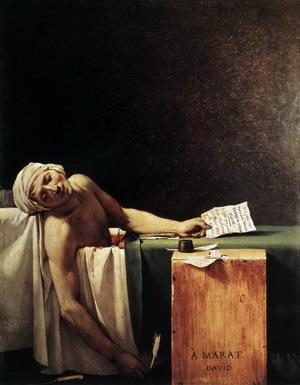 Смерть Марата, 1793 г.