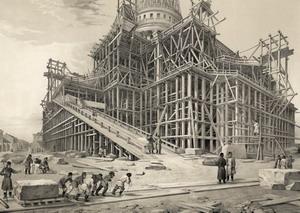 Строительство Исаакиевского собора.