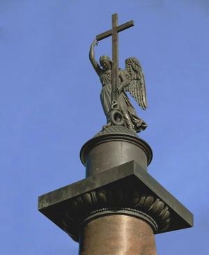 Фигура ангела на Александровской колонне, бронза, 1831-33 гг., Санкт-Петербург.