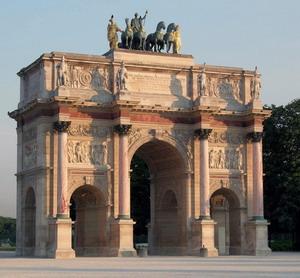 Триумфальная арка, Площадь Каррузель, Париж 1806-1807 ГГ.