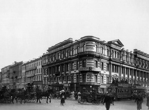 Гостиница А.М. Ушакова на Невском пр., 49, 1880 г., Санкт Петербург.