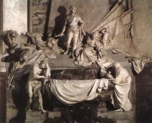 Надгробие маршала Морица Саксонского, мрамор, 1753-76, церковь Сен-Тома, Страсбург.