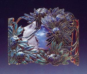Ожерелье  Нарцисс. Золото, эмаль, стекло; 1899-1900 гг.