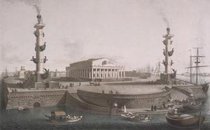 Здание Биржи 1805-1810 гг., Санкт-Петербург, Россия.