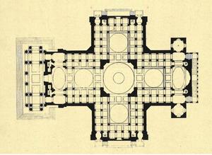 Здание Пантеона, план.